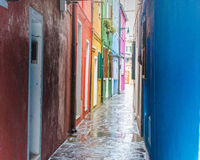 Arquitetura da cidade bonita em Veneza durante a chuva Fotografia de Stock