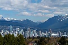 Arquitetura da cidade Canadá da skyline de Vancôver Fotografia de Stock