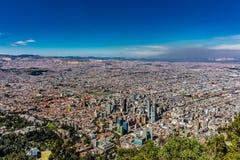 Arquitetura da cidade Colômbia da skyline de Bogotá fotografia de stock