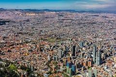 Arquitetura da cidade Colômbia da skyline de Bogotá foto de stock royalty free