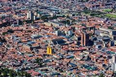 Arquitetura da cidade Colômbia da skyline de Bogotá fotografia de stock royalty free