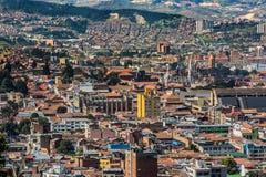 Arquitetura da cidade Colômbia da skyline de candelaria Bogotá do La imagens de stock