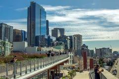 Arquitetura da cidade colorida de Seattle na tarde Foto de Stock Royalty Free