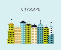 Arquitetura da cidade com arranha-céus Fotografia de Stock Royalty Free
