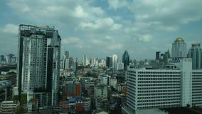Arquitetura da cidade com construção na cidade de Banguecoque filme