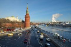 Arquitetura da cidade com Kremlin de Moscou, Rússia foto de stock royalty free