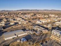 Arquitetura da cidade da antena de Fort Collins Imagem de Stock
