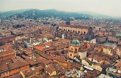 Arquitetura da cidade da Bolonha Imagem de Stock
