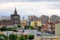 Arquitetura da cidade da cidade de Coreia Suwon Foto de Stock Royalty Free