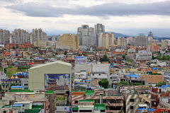 Arquitetura da cidade da cidade de Coreia Suwon Foto de Stock