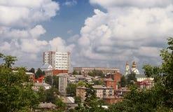 Arquitetura da cidade da cidade de Vinnysia em Ucrânia, Fotografia de Stock Royalty Free