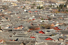 Arquitetura da cidade da cidade tradicional chinesa, Lijiang, Yunnan, China Imagens de Stock