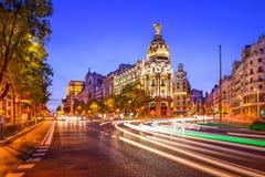 Arquitetura da cidade da Espanha do Madri fotografia de stock