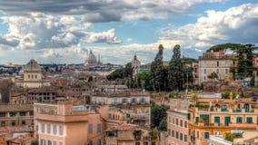 Arquitetura da cidade da Roma Fotos de Stock Royalty Free