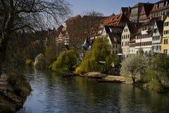 Arquitetura da cidade das fachadas de Tubinga Schwarzwald Alemanha fotos de stock royalty free
