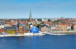 Arquitetura da cidade de Aarhus em Dinamarca Imagem de Stock