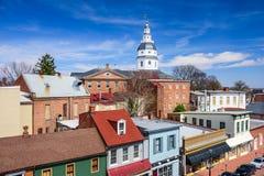 Arquitetura da cidade de Annapolis Maryland Fotos de Stock