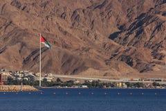 Arquitetura da cidade de Aqaba, Jordânia fotos de stock royalty free