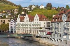 Arquitetura da cidade de Baden no outono Imagem de Stock Royalty Free