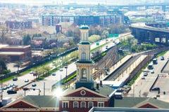 Arquitetura da cidade de Baltimore e de Camden Station, EUA imagens de stock royalty free