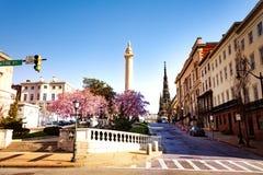 Arquitetura da cidade de Baltimore no dia ensolarado, Maryland, EUA foto de stock royalty free