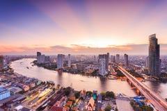 Arquitetura da cidade de Banguecoque Fotos de Stock
