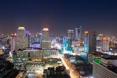 Arquitetura da cidade de Banguecoque Fotos de Stock Royalty Free