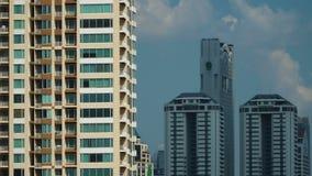 Arquitetura da cidade de Banguecoque, distrito financeiro com construção alta vídeos de arquivo