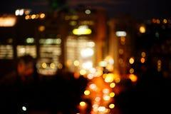 Arquitetura da cidade de Banguecoque no tempo crepuscular Fotos de Stock Royalty Free