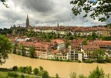 Arquitetura da cidade de Berna o capital de Suíça, Foto de Stock Royalty Free