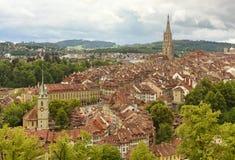 Arquitetura da cidade de Berna o capital de Suíça, Fotografia de Stock Royalty Free