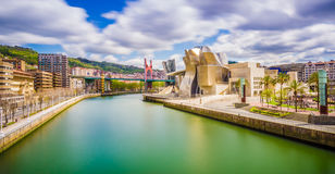 Arquitetura da cidade de Bilbao Imagens de Stock Royalty Free