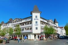 Arquitetura da cidade de Binz na ilha Ruegen, Alemanha Fotografia de Stock