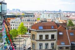 Arquitetura da cidade de Bruxelas, Bélgica foto de stock