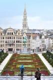 Arquitetura da cidade de Bruxelas, Bélgica Imagens de Stock Royalty Free