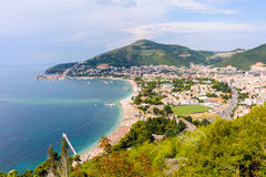 Arquitetura da cidade de Budva Montenegro Fotografia de Stock Royalty Free