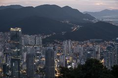 Arquitetura da cidade de Busan foto de stock royalty free