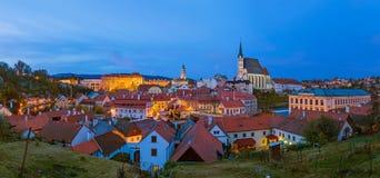 Arquitetura da cidade de Cesky Krumlov em República Checa Fotografia de Stock Royalty Free