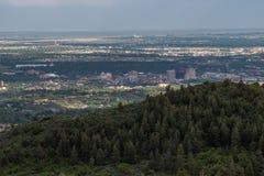 Arquitetura da cidade de Colorado Springs imagens de stock