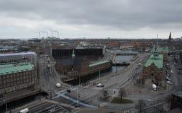 Arquitetura da cidade de Copenhaga Imagens de Stock Royalty Free