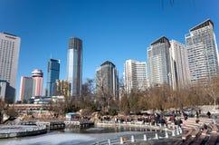Arquitetura da cidade de Dalian no inverno Imagem de Stock Royalty Free