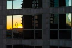 Arquitetura da cidade de Dallas fotografia de stock