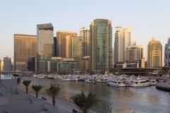 Arquitetura da cidade de Dubai Foto de Stock Royalty Free