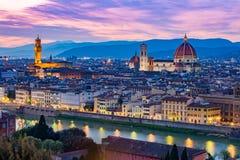 Arquitetura da cidade de Florença em Toscânia, Itália Fotos de Stock