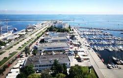 Arquitetura da cidade de Gdynia Fotografia de Stock Royalty Free
