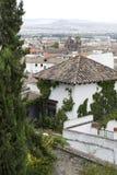 Arquitetura da cidade de Granada com a catedral fotos de stock royalty free