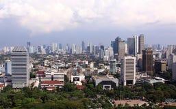 Arquitetura da cidade de Jakarta Foto de Stock Royalty Free