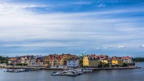 Arquitetura da cidade de Karlskrona Imagens de Stock