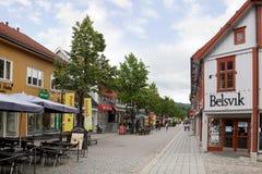 Arquitetura da cidade de Lillehammer Imagem de Stock Royalty Free