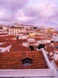 A arquitetura da cidade de Lisboa, Portugal, considerado de Portas faz o solenoide, Imagem de Stock